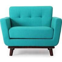 Jackie Midcentury Modern Classic Chair, Turquoise, Chairs, by Kardiel