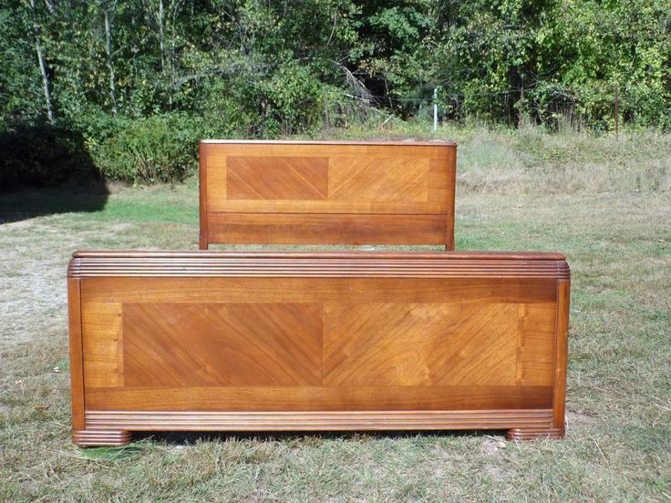Antique Walnut Art Deco Full Double Bed 1930u0027s Huntley Furniture