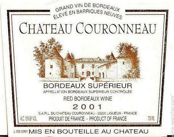 chateau couronneau bordeaux 2000 2001