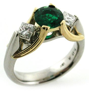 Love this... But, I'm allergic to silver, so I'd need Yellow Gold in place of the Silver & Rose Gold where the Yellow Gold is; or White Gold w Yellow Gold. The Emerald is perfect :)