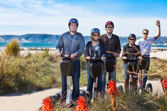 Coronado Island Segway Tour Explore downtown San Diego, the Embarcadero and Coronado Island by Segway on a morning or afternoon tour narrated by an informative guide. Admire gorgeous views of San Diego Bay from the Embarcadero. Take a ferry ride to Coronado Island to check out more sights including Coronado Beach and the Hotel del Coronado. Traveling by Segway is not only fun and different, but allows you to easily cover much more ground than walking.Your San Diego Segway adv...