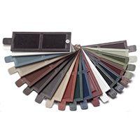 Color 027 burgundy raised panel style. Mid America Custom Exterior Shutter Color Sample Kit