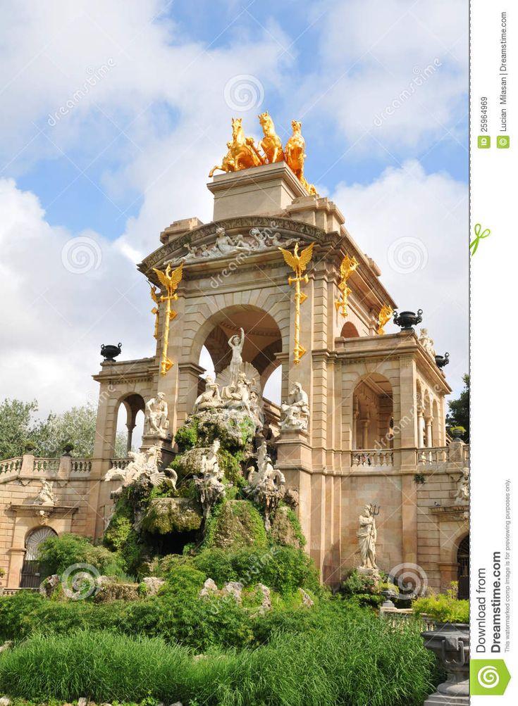 Μπαρόκ αρχιτεκτονική λεπτομέρεια Parc de Λα Ciutadella στη Βαρκελώνη, Ισπανία