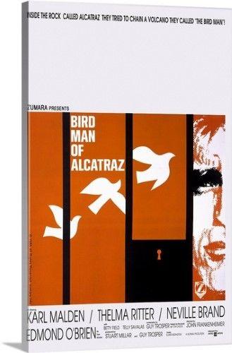 Solid Faced Canvas Print Wall Art Print Entitled Alcatraz None
