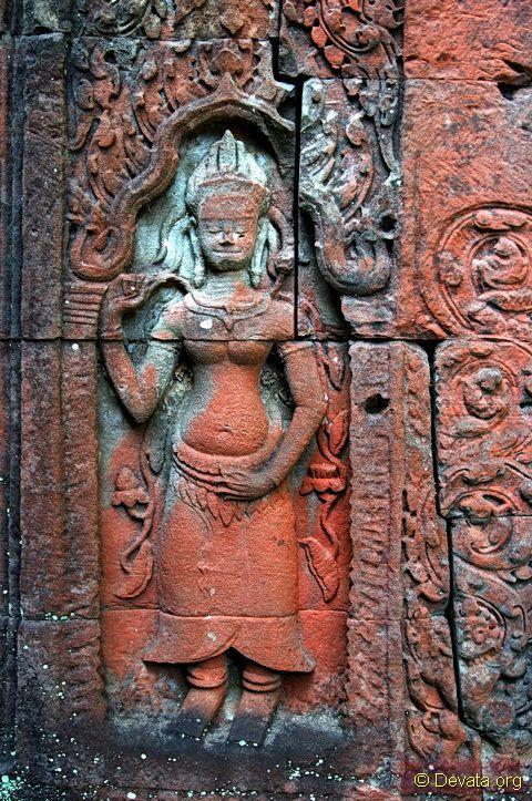 Preah Khan Khmer Temple Devata Goddesses of Light