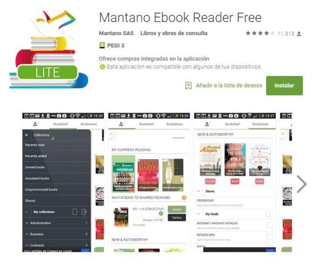 Mantano Ebook Reader Free
