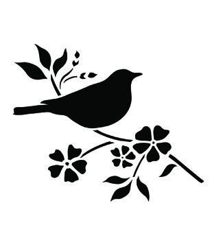 4x5 Bird Stencil Stencils Bird Stencil Stencils