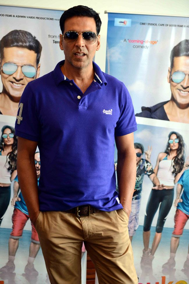 Akshay Kumar promotes 'The Shaukeens' in Delhi. #Bollywood #Fashion #Style #Handsome