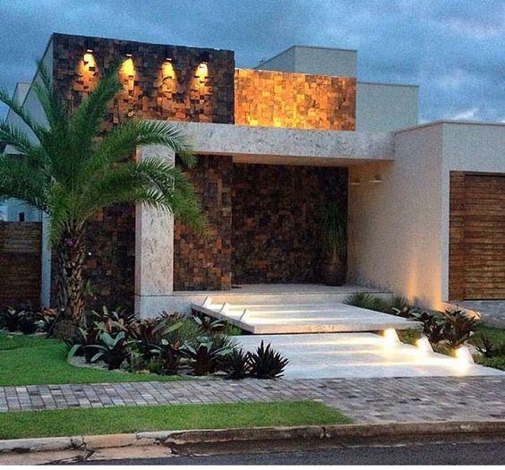 27 fachadas de un piso que debes ver para diseñar tu casa ideal #modelosdecasasterrea