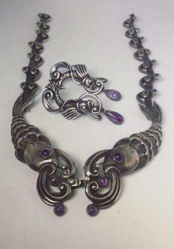 Margot de Taxco 5207 Mexican Silver Rare Fish Necklace