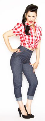 Rockabilly crop jeans and plaid top. Love it! http://www.vintagedancer.com/1950s/rockabilly-style/
