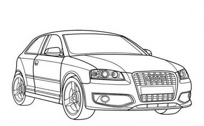 Ausmalbilder Audi A3 | Ausmalbilder, Ausmalen, Malvorlagen
