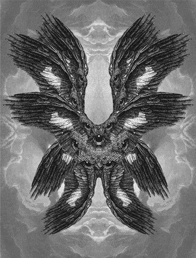 Seraphim II / Dan Hillier / Sacred Geometry #drawing #wings