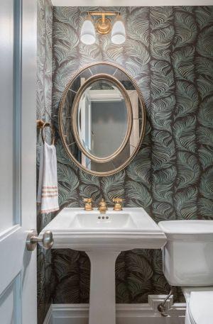 muhteşem bir duvar kağıdı, harika bir küçük banyo dekorasyonu