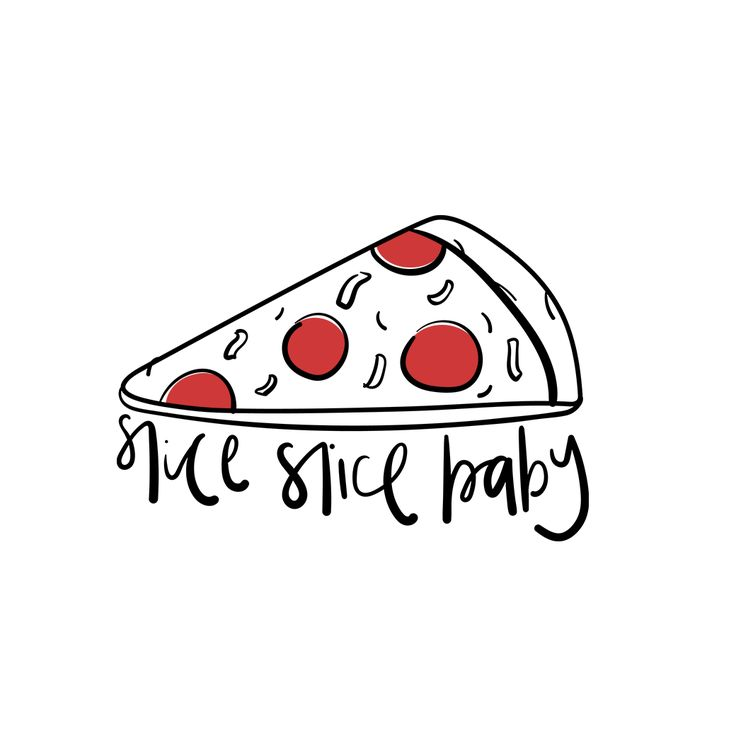 Pizza puns // illustration // lettering