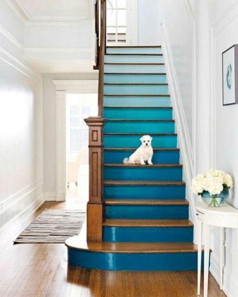 17 meilleures id es propos de contremarches peintes sur pinterest tapes peintes escaliers for Comcouleur escalier interieur