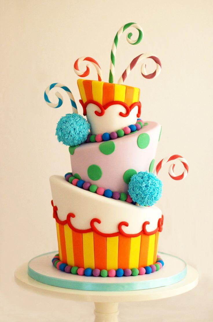 Rainbow Cake Decorations Uk : 49 best Colourful cakes images on Pinterest Candies ...