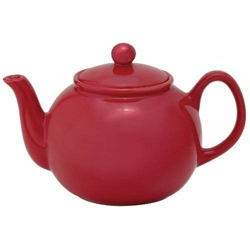 Brands that Cook Transitionals Ceramic Rose 32-Ounce Teapot with Stainless Steel Infuser