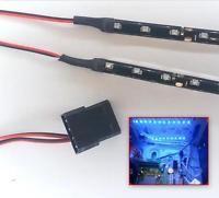 BLU MODDING PC KIT LUCI A LED CON ALLOGGIAMENTO COPPIA 30CM STRISCE MOLEX 60CM