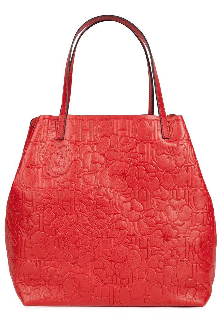CH Carolina Herrera red embossed Matryoshka bag, $830.