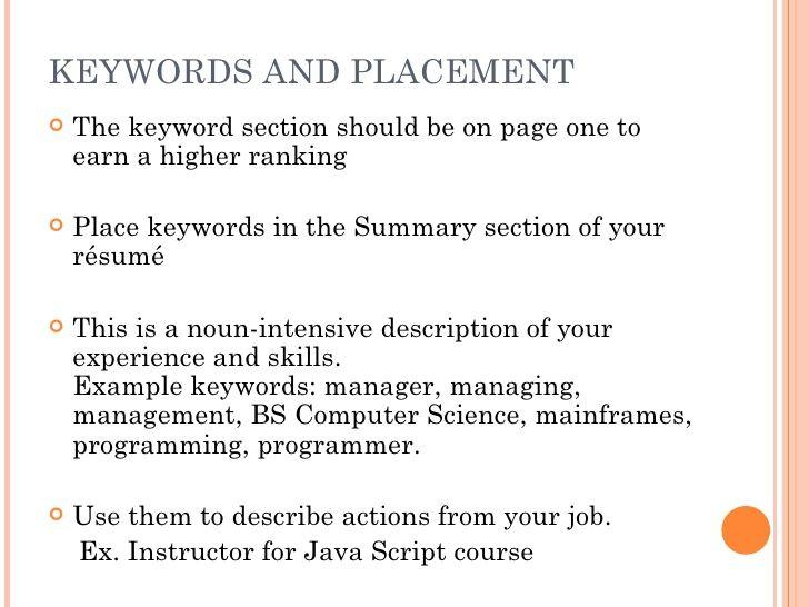 The Scannable Resume Best The Scannable Resume Resume Keyword