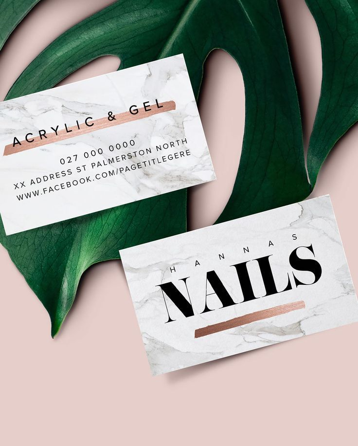 New Logo And Business Card Design For Hannah S Nails By Big Cat Creative Www Bigcatcreative Co Business Salon Business Cards Business Card Design Skin Logo