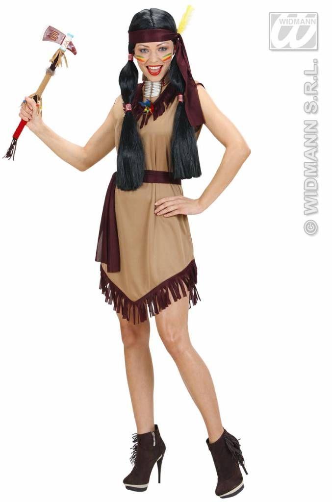 Verkleedkostuum: Indiaanse jurk Shelly