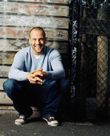 Jason Statham.... I think this is the first time I have ever seen him smile !!