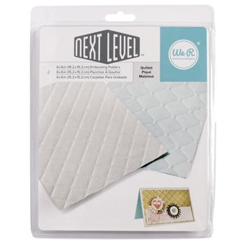 We R Memory Keepers QUILTED Next Level Embossing Folders 662674