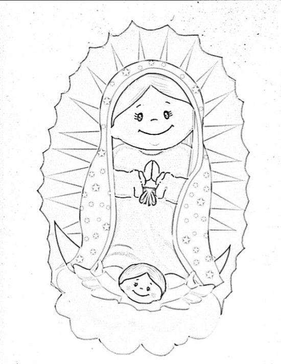 Virgen De Guadalupe Para Colorear 2 El Arte En El Foami Virgen