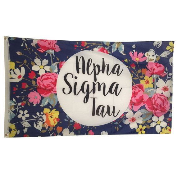 Alpha Sigma Tau Floral Flag 3' x 5'