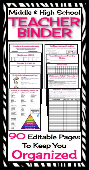 This fully editable and customizable teacher binder / organizer has absolutely everything you will need to start your year off organized and ready to roll! All you have to do is print, hole punch, and add to a three ring binder and viola, everything you need in one place!