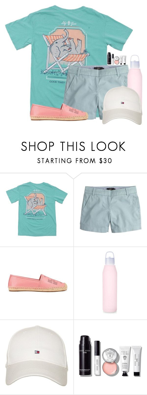 """Watching Little Big Shots"" by flroasburn ❤ liked on Polyvore featuring J.Crew, Tory Burch, Tommy Hilfiger and Bobbi Brown Cosmetics"