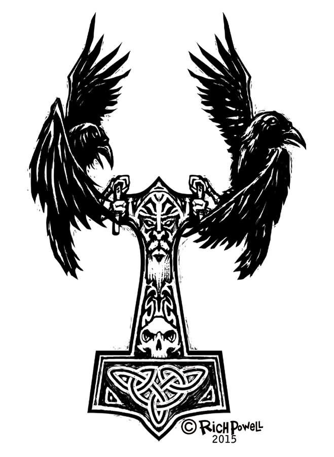 Viking Raven Tattoo 12+ amazing <b>norse raven tattoo</b> designs