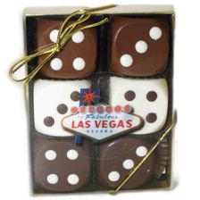 Cute for a Vegas Wedding...if the grooms like chocolate. ;)  Dice Chocolates, Las Vegas Party Favors, Wedding Favors!!!