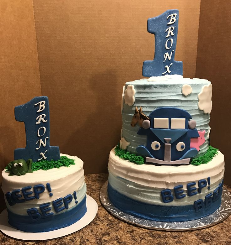 Little Blue Truck Birthday Cake