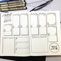 This weeks spread posted mid week! Ahh I actually have been filling it up but wanted to get the blank out there before I show the one after I've filled it all up with the things from the week. . . . . . . . . #calligraphy #moderncalligraphy #bujo #bulletjournal #bulletjournaljunkies #bujoaddict #plannergirl #plannercommunity #notebook #plannernerd #planneraddict #planner #leuchtturm1917 #micron #august #calendar @leuchtturm1917 @sakuraofamerica #weekly #weeklyspread #plannersgonnaplan