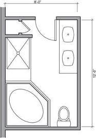 25 best ideas about small bathroom floor plans on for Bathroom ideas 7x7
