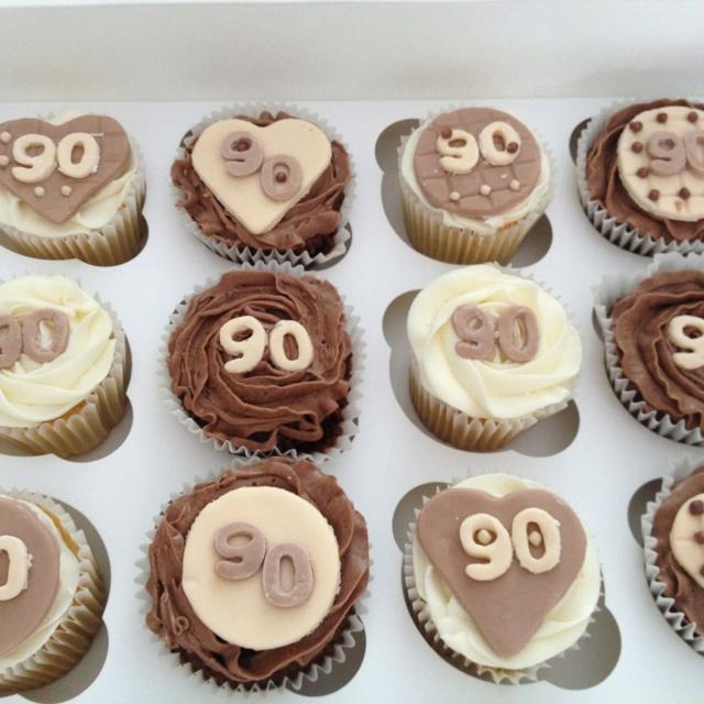 Happy 90th Birthday Cupcakes