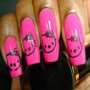 26 best hello kitty nail designs images on pinterest hello kitty hello kitty nail designs4527 prinsesfo Images