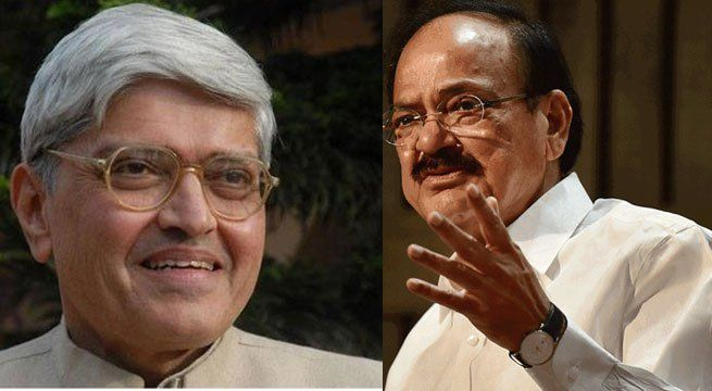 New Delhi: Vice Presidential candidates M Venkaiah Naidu, representing the ruling National Democratic Alliance and Gopalkrishna Gandhi, the grandson of Mahatma Gandhi and the Opposition's candidate will be filing their nominations for the post on Tuesday. The Opposition named Gopalkrishna...