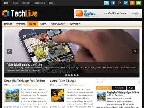 TechLive WordPress theme