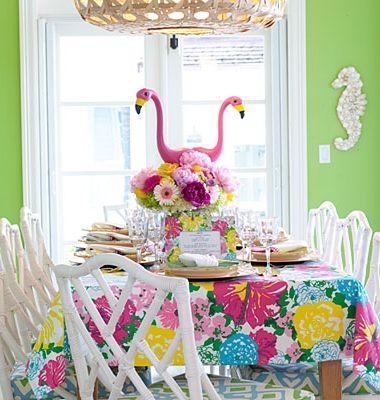 pink flamingo party idea