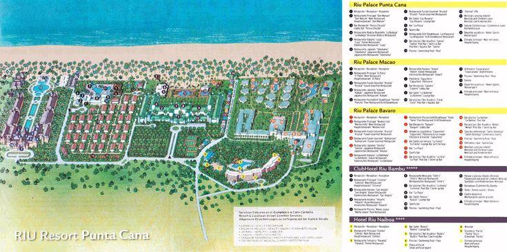 Dominican Republic Resorts >> Map Layout Riu Complex (5 resorts)   Punta cana resort map, Riu palace punta cana, Punta cana map