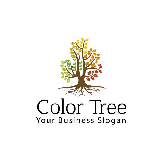 Arbre Couleur Logo Vecteur gratuit