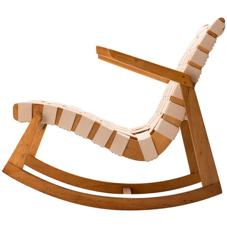 Rare Ralph Rapson For Knoll Rocking Chair