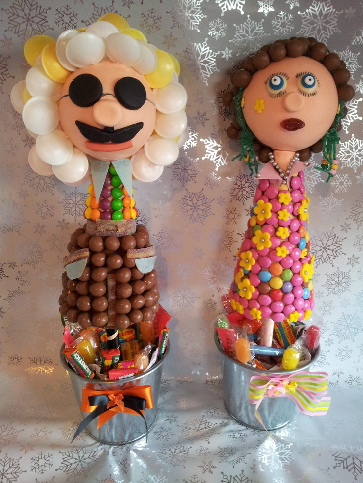 This delicious couple were commissioned for a special 60s birthday party.