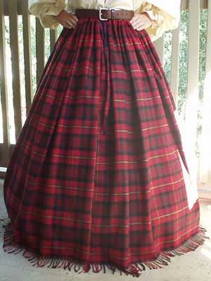 Scottish and Celtic Clothing, Lady Morrigan's Clan Tartan Wool Skirt!