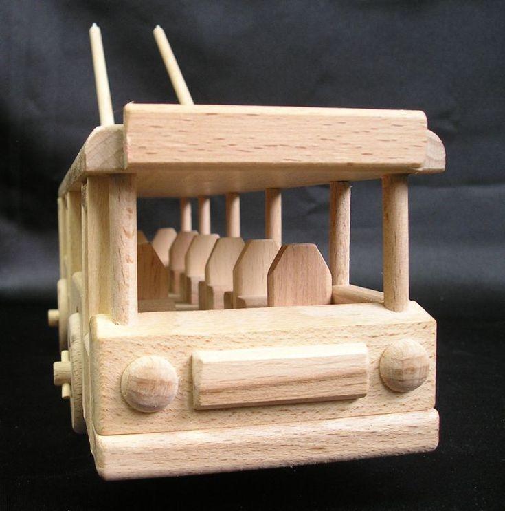 Trolejbus hračka a vozidla hračky ze dřeva