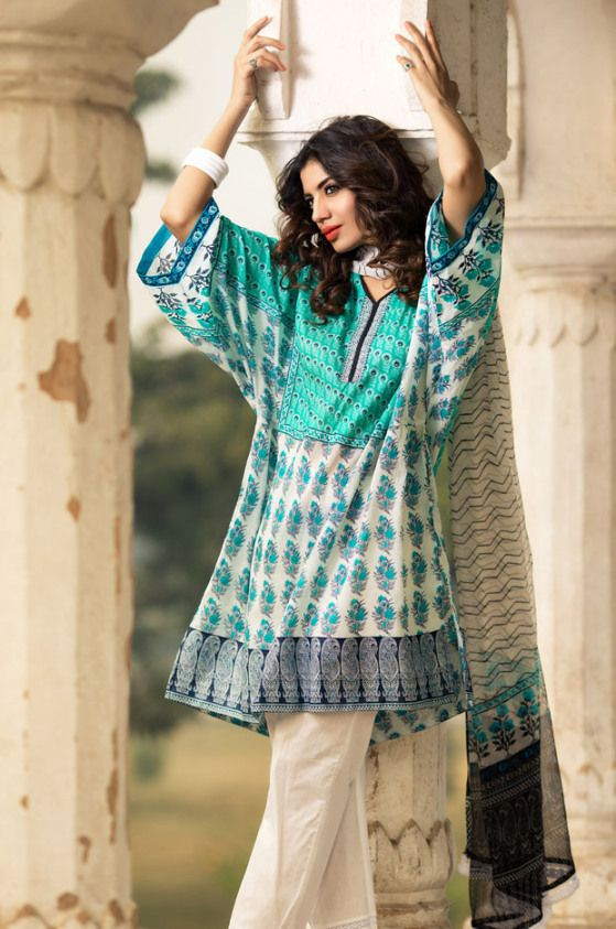 Khaadi Lawn Summer Spring collection 2014 for Ladies